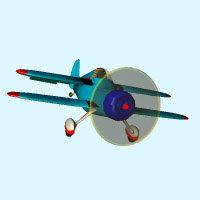 free concept bi-plane 3d model