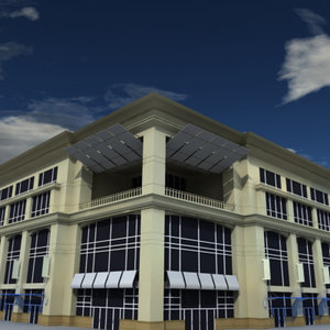 3d model large department store