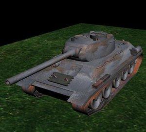 free max model t-34 tank