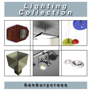 lighting downlighters lamp 3d max