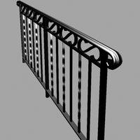 cast iron handrail 3ds