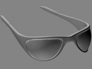 glasses 3d obj