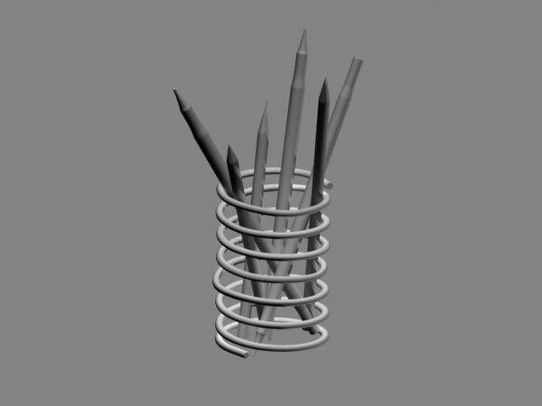 maya pen holder