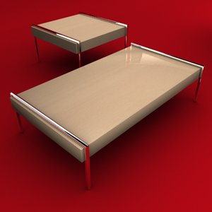 3ds max coffee table set