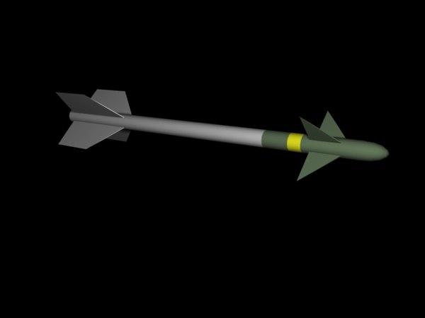 3d model aim-9 sidewinder missile