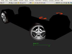 wheels 3d max