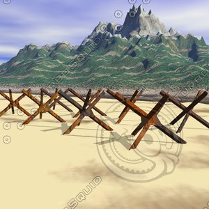 blockade barricade 3d model