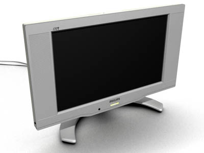 philips 170t lcd monitor 3d model
