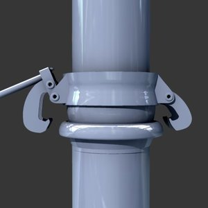 pipe union link 3d model