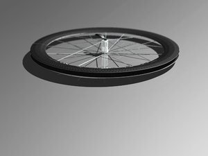 carbon fiber wheel road bike 3d model