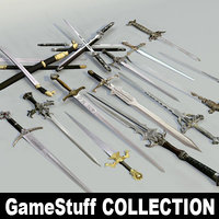 3ds max swords pc ps2