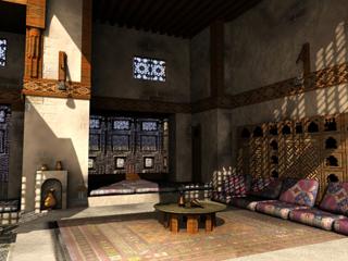 scene old arabian house 3d model