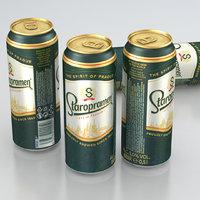 beer staropramen 3d model