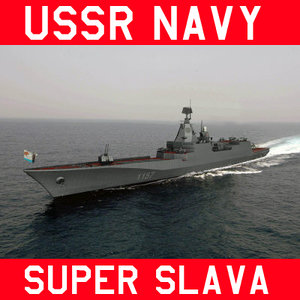 russian navy destroyer project 1157 3d model