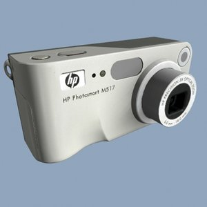 hp photosmart m517 digital camera 3d model