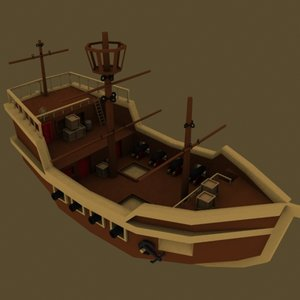 3dsmax little ship