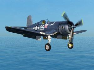 corsair fighter aircraft 3d model