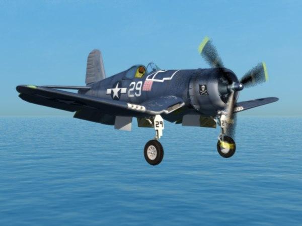 3d corsair fighter aircraft