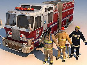 3d model vehicle fireman 01