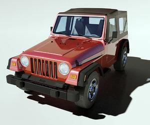 jeep wrangler sports 3d model