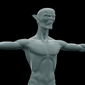 3d goblin monster model