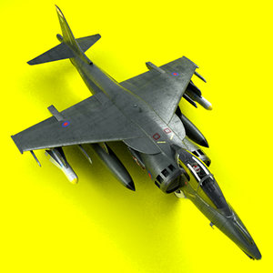 harrier jump jet gr 3d model