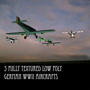3d model 5 german aircraft plane