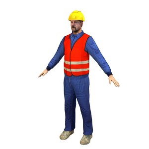 3ds max worker 02