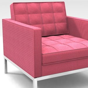 3d model florence knoll lounge chair