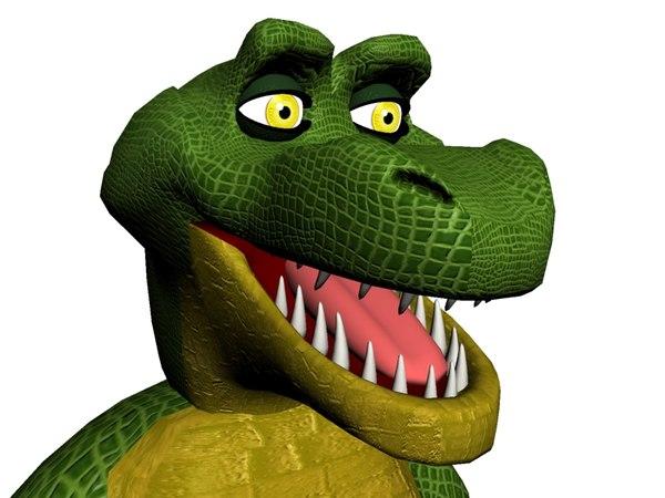 cartoon alligator boned morphing max