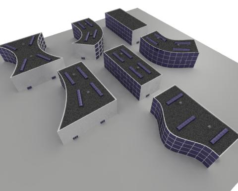 3ds generic office buildings