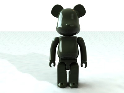 bearbrick medicom toy 3d model