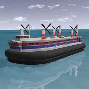 hovercraft realtime 3d model
