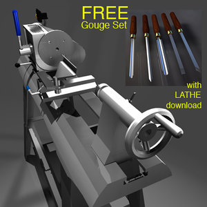 3d woodworking lathe model