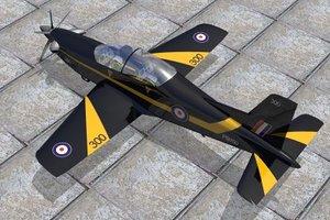 pilatus trainer jet 3d model