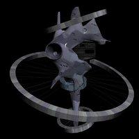 free messiah fortress gundam 3d model