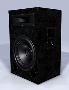 speaker box 3d model