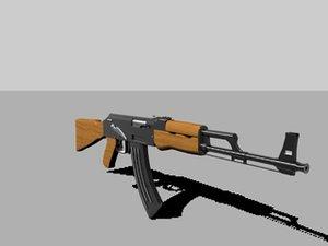 free ak47 3d model