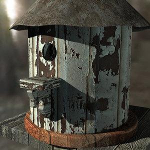 3d model birdhouse