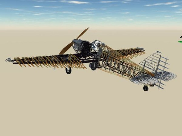 hurricane airframe data 3d model