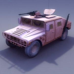 3dsmax vehicle hmmwv military humvee