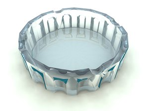 ashtray bryce vue 3d obj