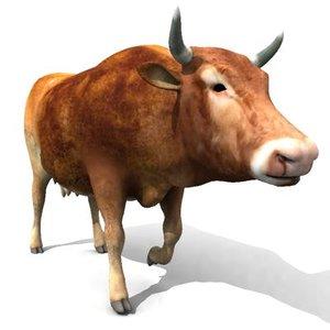 cow animate 3d model