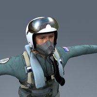 air force pilot 3d model