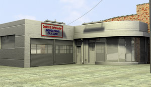 gas station service center 3d max
