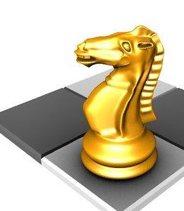 chess knight 3d model