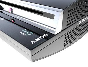 ps3 console 3d model