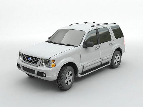 3D 2004 explorer suv model