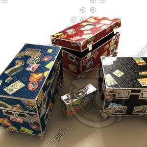 flight cases 3d model