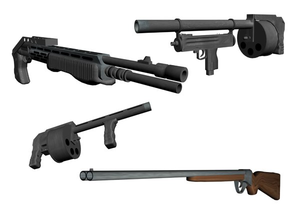 3d model shotguns franchi spas 12